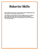 Behavior Skills: Writing Prompts for Adolescents