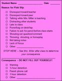 Behavior Slips (Pink Slips)