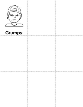 Grumpy Young Man - An old maid style game to practice recognizing expressions