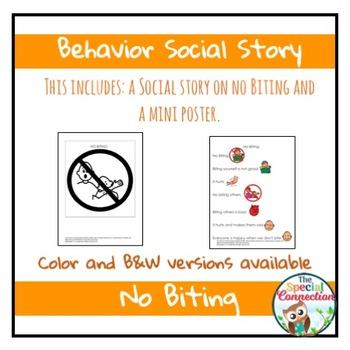 Behavior Social Story: No Biting