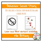 Behavior Social Story: No Biting