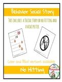 Behavior Social Story: No Hitting