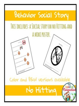 Behavior Social Story: No Hitting
