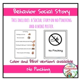 Behavior Social Story: No Pinching