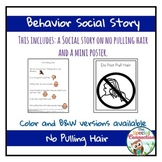 Behavior Social Story: No Pulling Hair