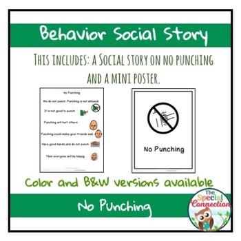 Behavior Social Story: No Punching