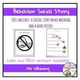 Behavior Social Story: No Whining