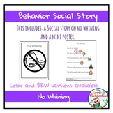 Behavior Social Story: No Whining