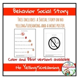 Behavior Social Story: No Yelling/Screaming