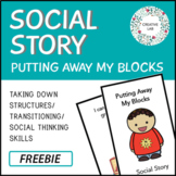 Behavior Social Story - Transitioning (Freebie)