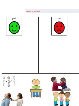 Behavior Sort for Life Skills Class. Pre K