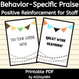 Behavior-Specific Praise - Positive Reinforcement for Staf