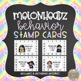Behavior Stamp Cards (with Melonheadz clipart!)