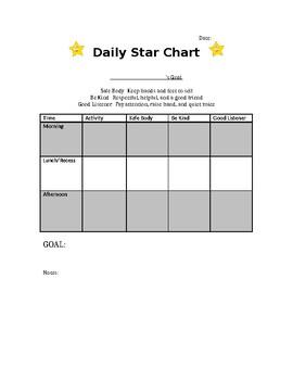 Behavior Star Chart (Editable)