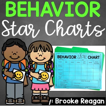 Behavior Star Charts: Targeted Behavior Charts (Editable)