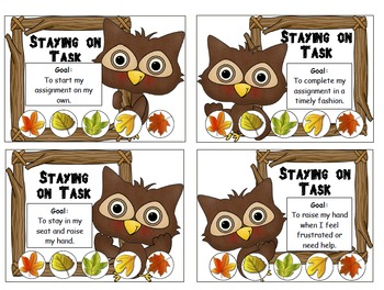 Behavior Punch Cards: Fall