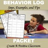 Behavior Steps Packet