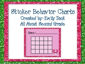 Behavior Sticker Charts-Behavior Management