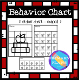 Behavior Sticker Charts - School Theme