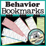 Behavior Stickers Bookmark - Classroom Management