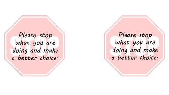 Behavior Stop Sign