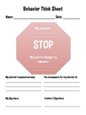 Behavior Stop Sign