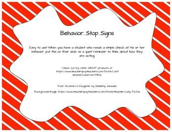 Behavior Stop Signs