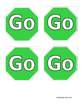 Behavior Stop and Go Signs