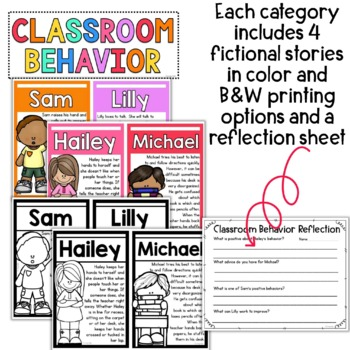 Behavior Stories: Encouraging Collaborative Problem Solvers