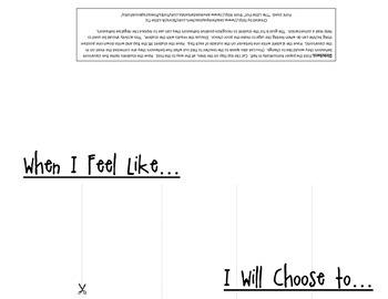 Behavior Strategies Flip Book Printable