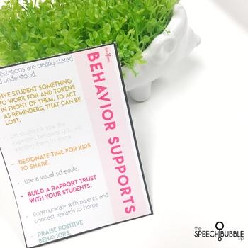 Behavior Support Card