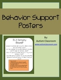 Autism Behavior Support Posters Green and Orange (By: Auti