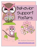 Autism Behavior Support Posters (Pink) By: Autism Classroom