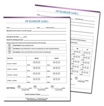 Behavior Support Sheets
