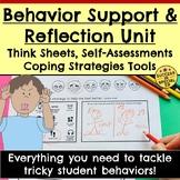 Behavior Reflection Unit Think Sheets Self-Assessments Apo