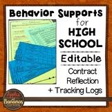 Behavior Supports for High School - Freebie