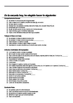 Behavior Suspension List Spanish English Student Bilingual Parent Report