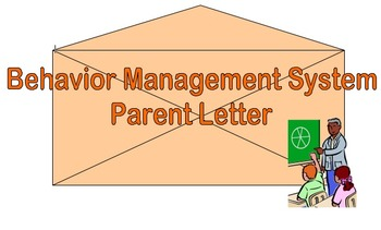 Behavior System Parent Letter