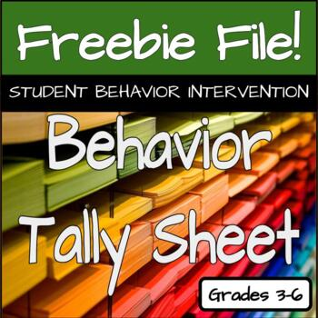 Behavior Tally Sheet