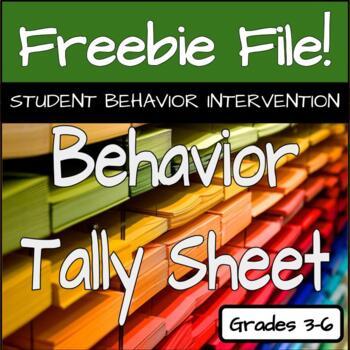 Behavior Tally Sheet