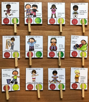 Behavior Task Cards (Set 2) Calming Strategies