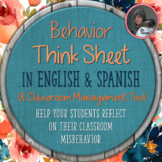 Behavior Think Sheet: A Classroom Management Tool