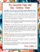 Behavior Think Sheet: A Classroom Management Tool