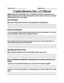 Behavior Think Sheet (Second Offense)