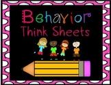 Behavior Think Sheets