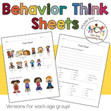 Behavior Think Sheets