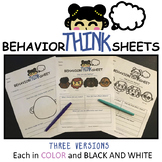 Behavior Think Sheets for Classroom Management and Restora