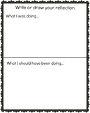 Behavior Thinking Reflection Draw or Write Page