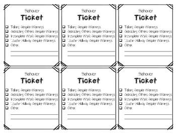 Behavior Tickets