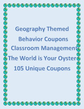 Behavior Tickets - Geography Related Themes - 105 Unique Tickets included